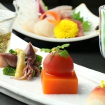【夕食・前菜三種盛り 】
