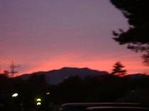 白根山の夕焼け