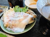 【ご夕食の一例】稚内名物タコしゃぶ