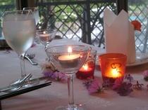 記念日のテーブル