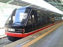 黒船電車伊豆急下田駅に到着で〜す