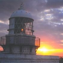 禄剛埼灯台からの日の入り
