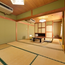 *2F和室8畳+6畳(客室一例)/グループやご家族でのご宿泊にオススメ!団欒のひと時をお過ごし下さい。