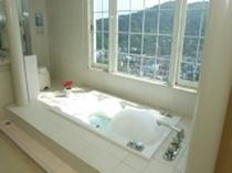 サウナ付き泡風呂(貸切り専用のお風呂で、サウナ付き泡風呂欧風バスとなっております。