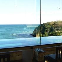 *レストランからの景色