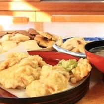 きのこの天ぷら・きのこ汁