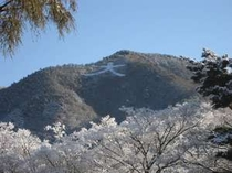 雪の大文字山