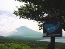 自然に囲まれて-三国峠からの富士山