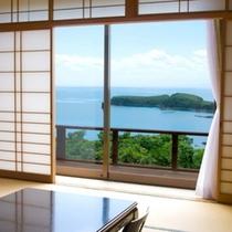 日本海を一望のファミリーに最適な和室!