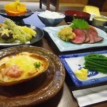 *和洋折衷料理(夕食一例)