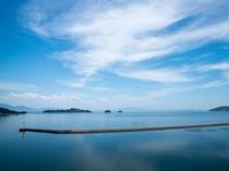 正面に見える少し大きな島は『黒島』・その右の小さい島が『中ノ小島』・一番右端の小さい島が『端ノ小島』
