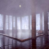 大浴場 冬