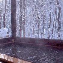 露天風呂 冬(銀世界)