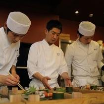 【料理人】小さな旅館ですが、料理人が3人います