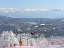 スキー場の景色