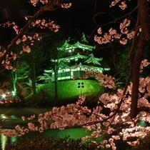 ライトアップの高田城