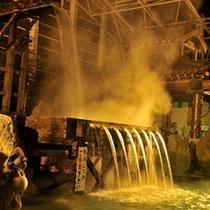 湯量圧巻の大浴場