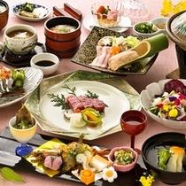 春の特撰会席料理の一例