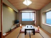【風呂付和室】お風呂(内風呂)が付いた和室10畳のオーシャンビュー客室