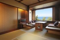 【松庵モダン】鳩山荘松庵の伝統的客室にモダンが融合したお部屋でごゆっくりとお過ごしください。