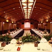 当荘で最も大きく、200名収容可能な宴会場「宝満」