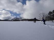 スノーシューハイキング(牧場)