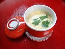 お夕食一例(オリジナル茶碗蒸し)