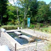*【いもり池】妙高山を眺めながらゆっくり入る足湯は最高!
