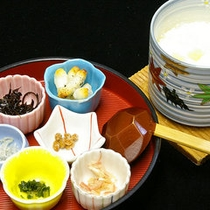朝食「豆乳花」