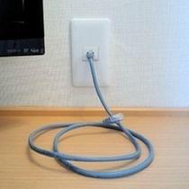 LANケーブルは各部屋に設置しております。