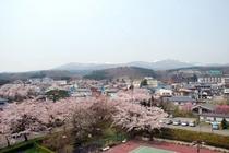 安達太良山と桜坂