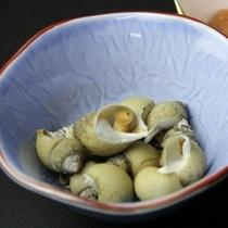 夕食 バイ貝の煮付け