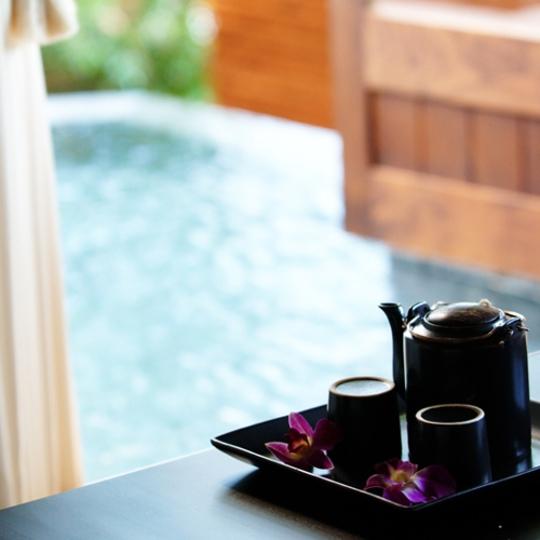 バリスイート45号室[室内IMAGE2露天風呂へ向かっての眺め] 写真提供:楽天トラベル