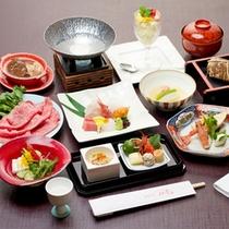 *【華湖の膳一例】近江牛メインバージョン。滋賀の旬の食材を使用した豪華な会席コース。