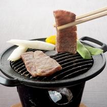 *【近江牛の鉄板焼き】ジューシーで柔らかい近江牛をお好きな焼き加減でどうぞ!