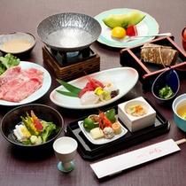 *【華の膳一例】近江牛メインバージョン。滋賀の旬の食材を使用した会席コース。