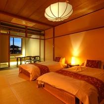 和洋室【びわこなないろ◆あけぼの】/■1階■オレンジの鮮やかな夕日色をイメージしたお部屋です。