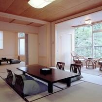 露天付客室(平安)12.5畳+6畳のお部屋