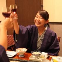 炭火焼 女子会〜 ワイン乾杯 〜