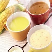 ◆朝食の一例◆洋食派のあなたにぴったり!スープも3種類ご用意しています