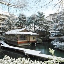 松泉湖・雪景色