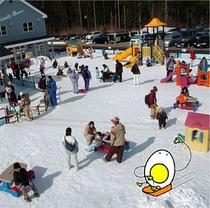 ハンターマウンテン塩原で雪遊び満喫★ハンタマキッズパーク広場