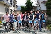 市内散策は、無料貸し自転車が便利