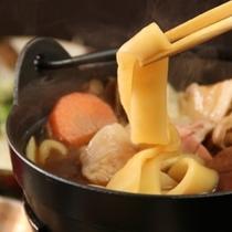 夕食_おっきりこみ鍋