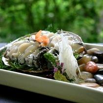 *アワビのお刺身(一例)新鮮な食材を新鮮なうちに!