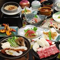 *お料理(一例)種類豊富な会席料理をお楽しみください。