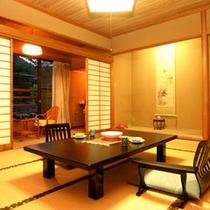 *客室一例。純和風の落ち着いたお部屋で、ゆったり安らぎの時間を。