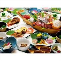 伊勢海老×舟盛りの-磯波-プランのお料理イメージです。