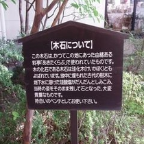 ◆木石説明◆