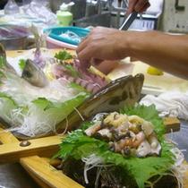 料理一例:壱岐の新鮮な海の幸をご賞味下さい